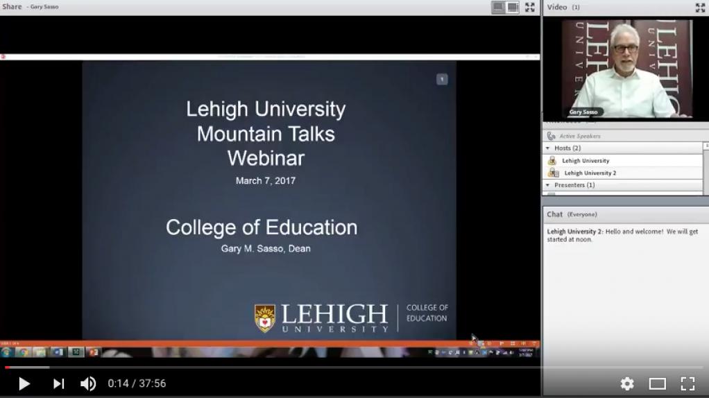 Dean Gary M. Sasso's on Lehigh Education