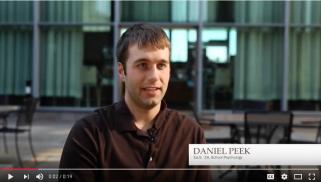 Daniel Peek, School Psychology, Ed.S. '18 video testament