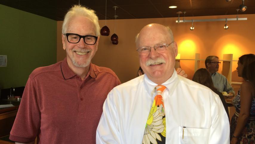 Emeritus Professor Ward Cates with Dean Gary M. Sasso